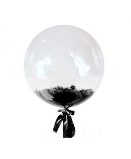 Bubble с перьями (черные)