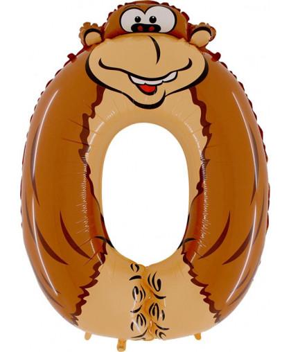 Цифра 0 обезьяна