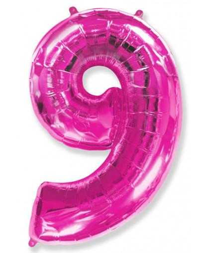 Цифра 9 Фукси