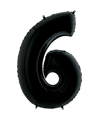 Цифра 6 Черная