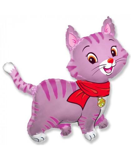 Шар фигура Кошечка (розовая)