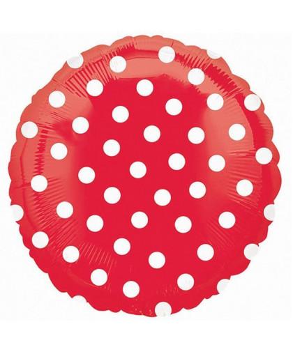 Шар круг Красный в горошек