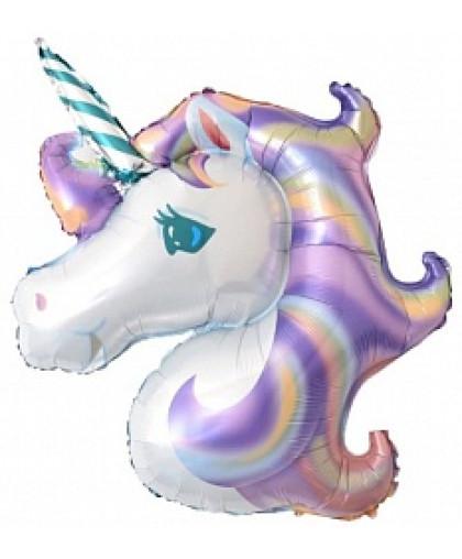 Шар фигура Единорог (фиолетовый)