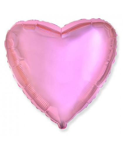 Сердце (розовый металлик)