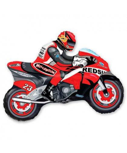Мотоциклист (красный)