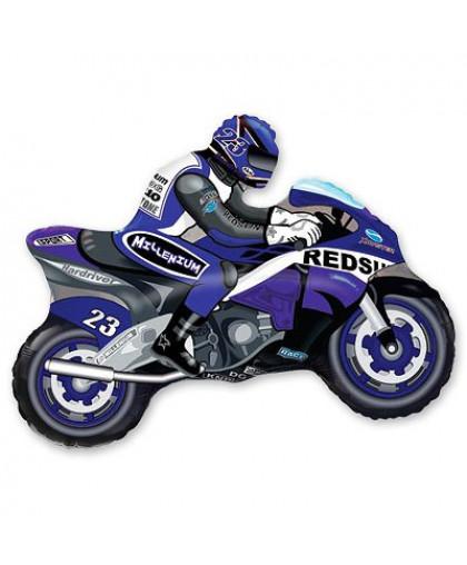Мотоциклист (синий)