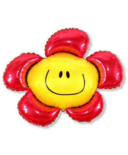 Шар фигура Цветочек красный (102 см)