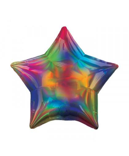 Фольгированная звезда Переливы Радуги