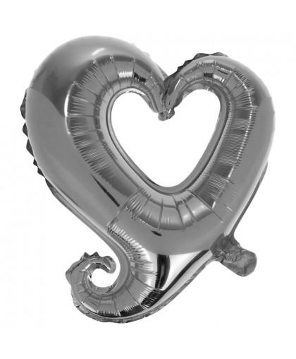 Сердце Вензель (серебро)