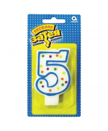 Свеча - цифра 5