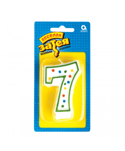 Свеча - цифра 7
