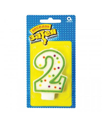 Свеча - цифра 2