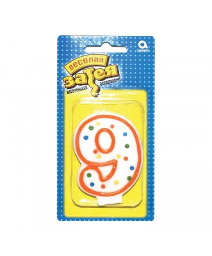 Свеча - цифра 9