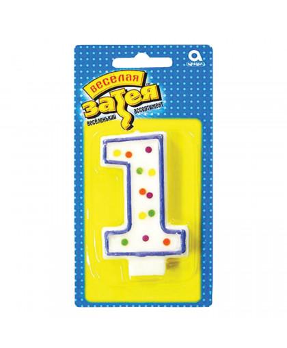 Свеча - цифра 1